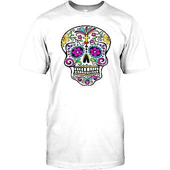 Mexikanska socker skalle - krucifix barn T Shirt