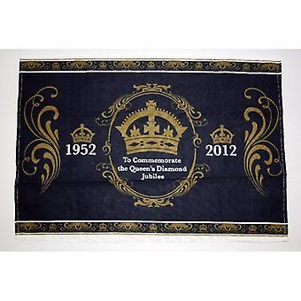 Union Jack use toalla de té conmemorativa de Queen Diamond Jubilee
