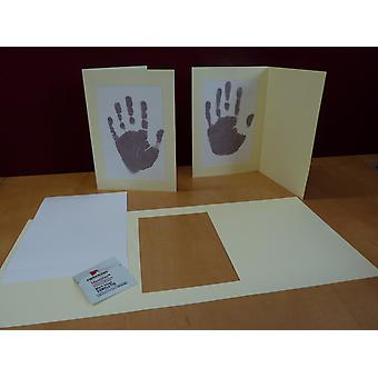 Inkless Handprint Footprint Baby Frame Card Kits, Child or Newborn Keepsake.
