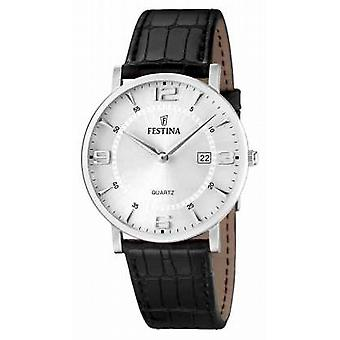 Festina Gents black Leather F16476/3 Watch