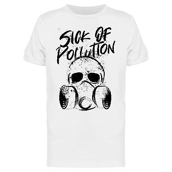 Sick Of pollution Gas Mask Climate Change Awareness Graphic Men's T-shirt