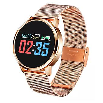 Stuff Certified ® Original Q8 Smartband Sport Smartwatch Smartphone Watch OLED iOS Android Gold Metal