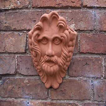 Hanging Terracotta Bacchus Wall Pot