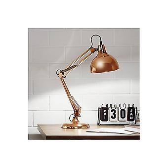 Eglo Borgillio Red Copper Flexible Reading Desk Light