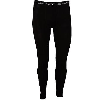 Gant Classic Cotton Stretch Long Johns, Black