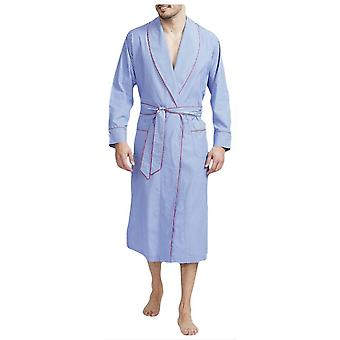 British Boxers Burford Stripe Robe - Blue/White