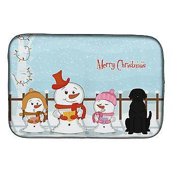 Merry Christmas sanger svart Labrador parabolen tørking matte