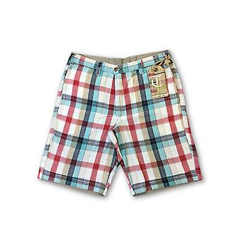 Tailor Vintage reversible shorts in multi colour check