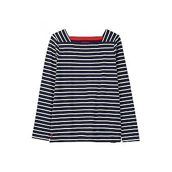 Joules Matilde Womens Square Neck Jersey Top - Navy Cream Stripe