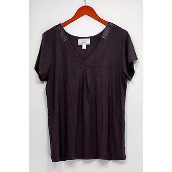 Carole Hochman Women's Sleepshirt Modal Spandex Satin Brown A292529