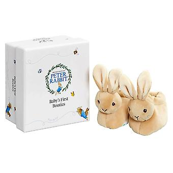 Peter Rabbit Baby's First Booties with Rattle