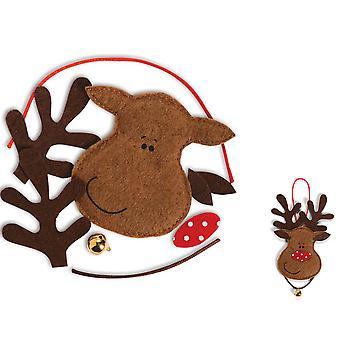 12 Рождество чувствовал оленей безделушка украшения для детей ремесла