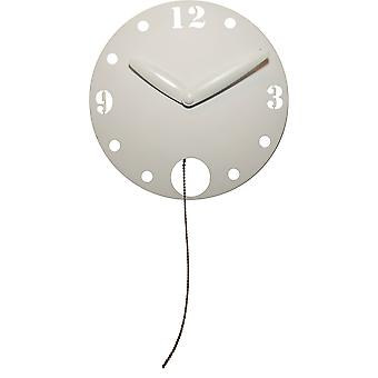 NeXtime - Wall clock - Ø 29 cm - Plastic – White – 'Waggle'
