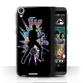 STUFF4 Case/Cover for HTC Desire 820q Dual/Singer Black/Rock Star Pose