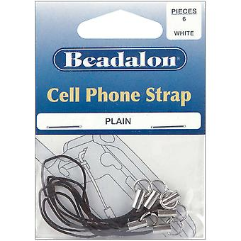 Cell Phone Strap Plain 6 Pkg Black 3.34E+12