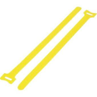 Hook-and-loop cable tie for bundling Hook and loop pad (L x W) 180 mm x 12 mm Yellow KSS MGT-180YW 1 pc(s)
