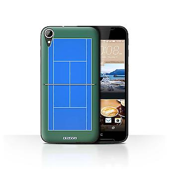 STUFF4 Case/Cover for HTC Desire 830/Blue Hard Court/Tennis Courts