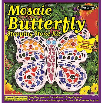 Mosaic Stepping Stone Kit-Butterfly 90111276