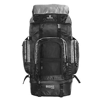 Karabar Makalu 120 Litres voyage sac à dos, noir/gris