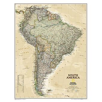 South America Executive tubed : Wall Maps Continents (National Geographic Reference Map) (Map) by National Geographic Maps