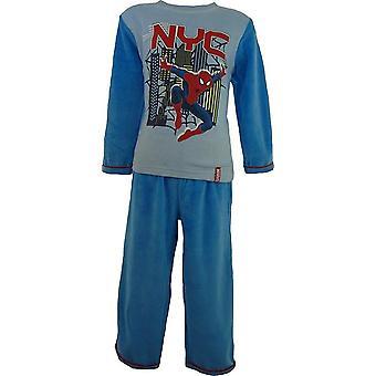 Ragazzi Marvel Spiderman velluto pigiama manica lunga con i calzini nella casella