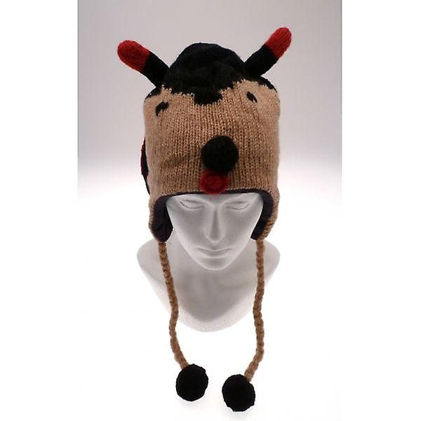 W.A.T Knitted Woollen Ladybird Animal Hat