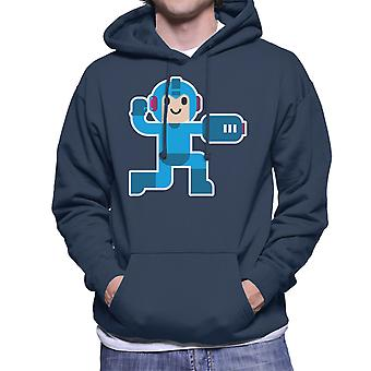 Megaman Simple Artwork Men's Hooded Sweatshirt