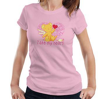 Kero Chan Take My Heart Cardcaptor Sakura Women's T-Shirt