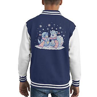 Frosty skjemaer Pokemon solen og månen barneklubb Varsity jakke