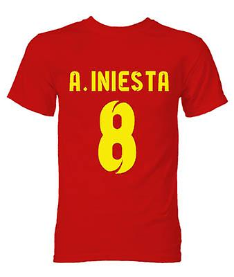 Barcelona Andres Iniesta held T-Shirt (rood)