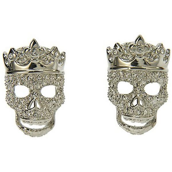 Simon Carter Crowned Skull Cufflinks - Clear