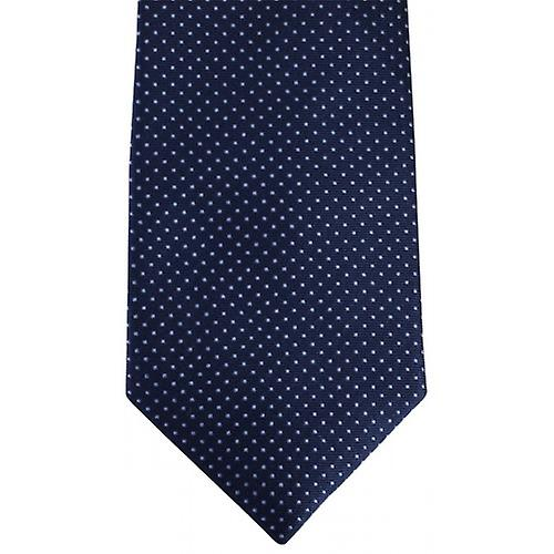 David Van Hagen Pin Dot Tie - Navy/Blue