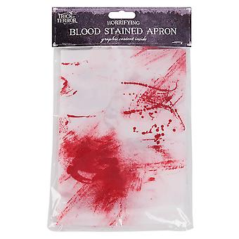 Adults Horrifying Blood Stained Apron Halloween Fancy Dress Accessory