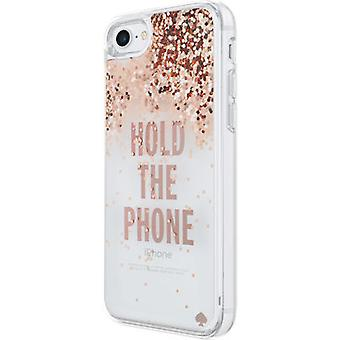 kate spade new york Liquid Glitter Case for iPhone 7 - Hold the Phone/Rose Gold