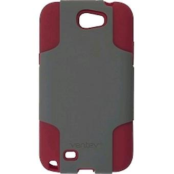 Samsung Fusion Case Cover Samsung Note II (Gray/Red)