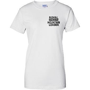 Royal Marine Mountain Leader - tekst - damer brystet Design T-Shirt