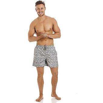 Royal Blue Avenue Mens Grey Swirl Design Swimming Shorts