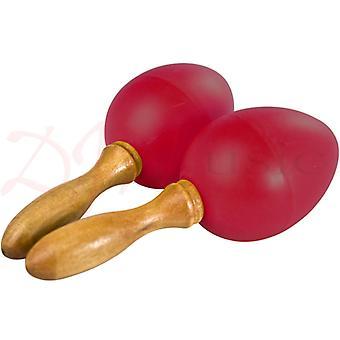 Stagg Red Plastic Egg Maracas