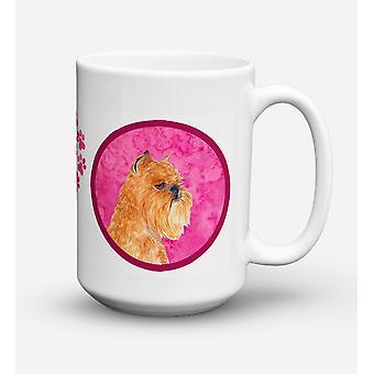 Brussels Griffon diskmaskin säkra mikrovågssäker keramisk kaffe Mugg 15 uns SS477