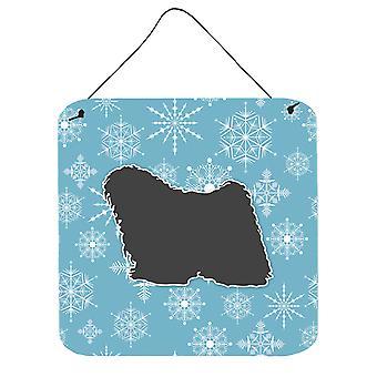 Winter Snowflake Puli muur of deur hangen Prints