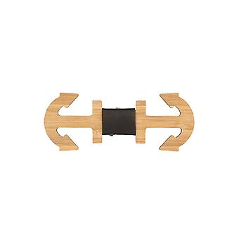 Snobbop fly Woody anchor large bamboo wood bow tie hook closure