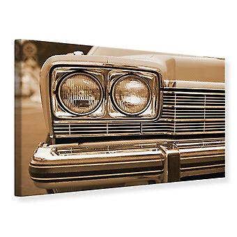 Canvas Print Oldtimer Close Up