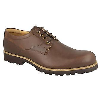 Mens Leather Lightweight Lace Up Smart Wedding Gibson Formal Shoes