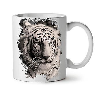 White Tiger Head NEW White Tea Coffee Ceramic Mug 11 oz | Wellcoda