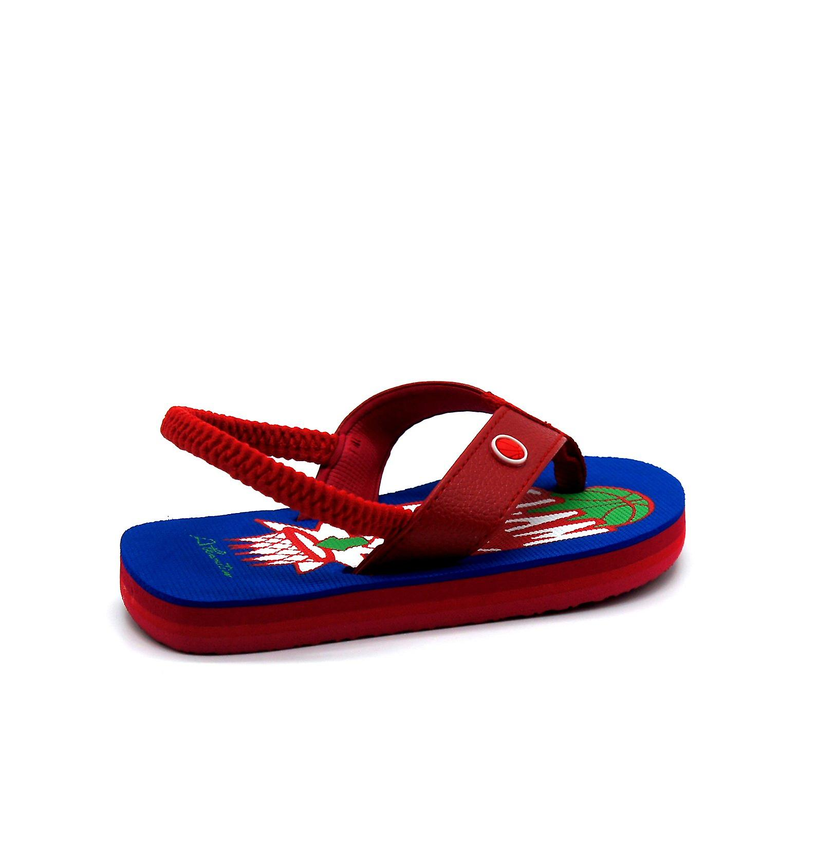 Atlantis Shoes Kids Supportive Cushioned Comfortable Sandals Flip Flops Slamdunk Red