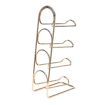 Pisa 4 Bottle Wine Rack, Copper