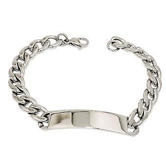 ID bracelet curb chain stainless steel