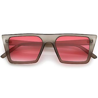 Retro Flat Top Square gafas de sol Color gradiente plana lente 52mm