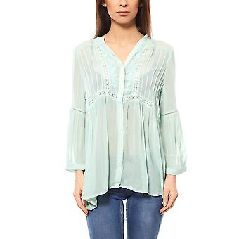 B.C.. best connections by heine shirt ladies embroidery blouse Grün Mint