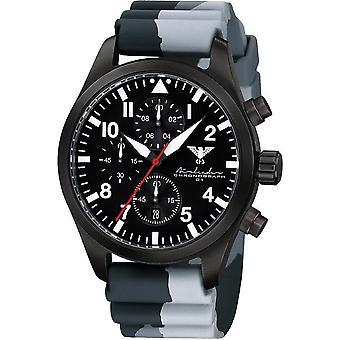 KHS Herrenuhr Airleader black steel chronograph KHS. AIRBSC. DC1